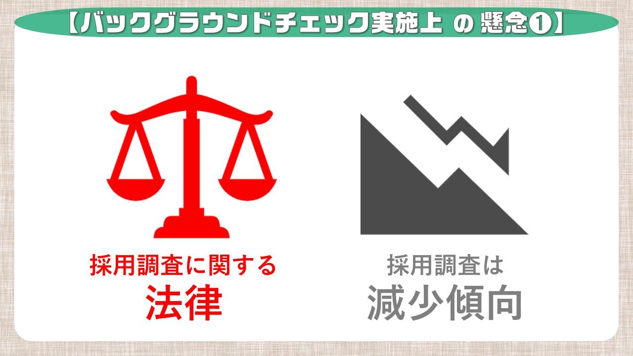 バックグラウンドチェックの懸念事項_法律
