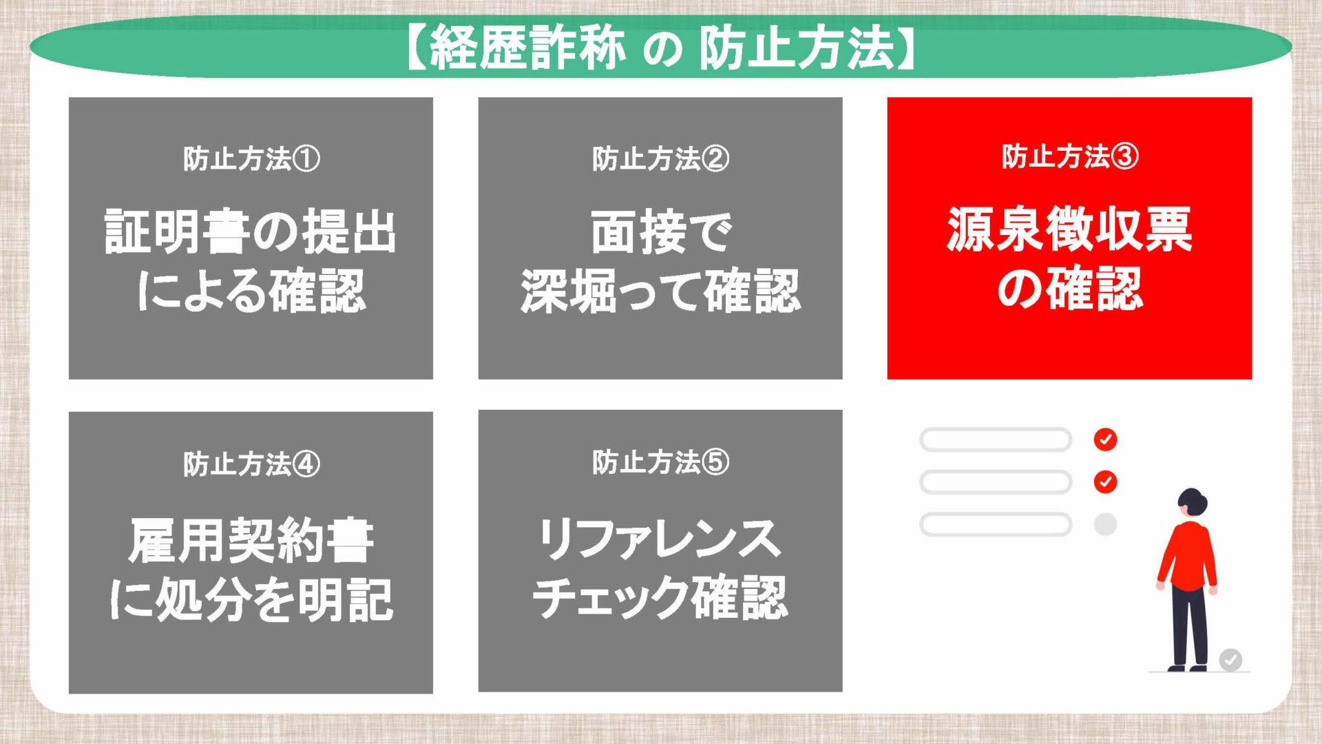 経歴詐称の防止方法:源泉徴収票の確認