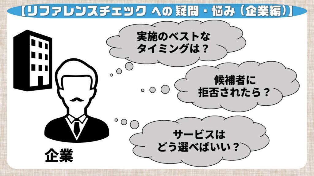 リファレンスチェックへの疑問・悩み_採用企業編