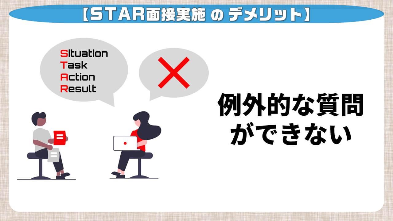 STAR面接実施のデメリット