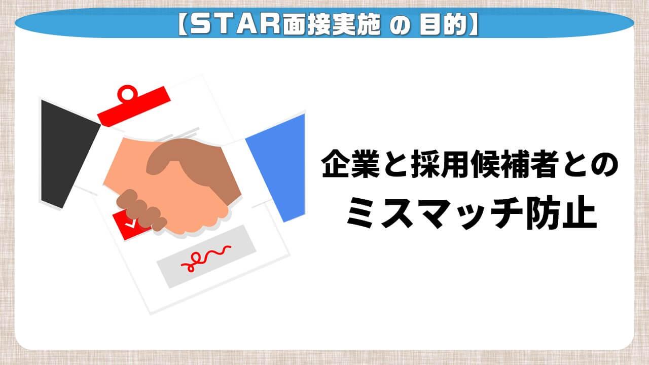 STAR面接実施の目的
